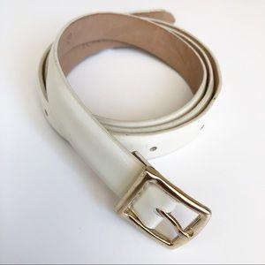 J. Crew Accessories - J. CREW Patent Leather White Belt SZ XS